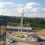 Kleinwindanlage WF 10 auf 20 m Mast