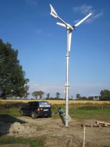 Sroka Windenergieanlage ws 3.5 auf klappbarem Stahlmast