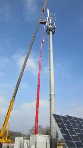 Sroka Stahlbau Hybrid-Kleinwindanlage mit aktiver Pitchverstellung, www.sroka-stahlbau.de