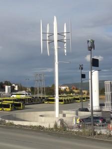Vertikale Windturbine 20 kW Nennleistung Trondheim